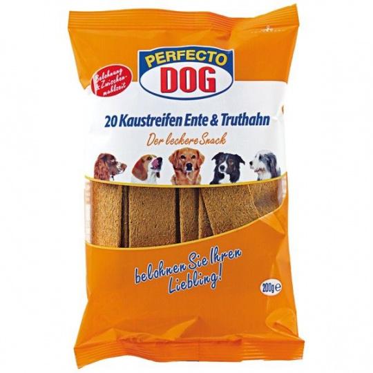 Perfecto Dog Masové plátky krůta + kachna (10ks/200g)