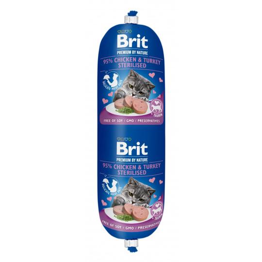 Brit Premium Sausage CAT Chicken & Turkey Sterilised 180g