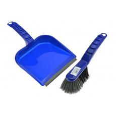 Smetáček a lopatka s gumou - Tmavě modrý