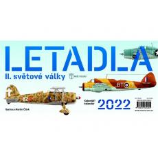 Kalendář 2022 stolní - Letadla II. světové války