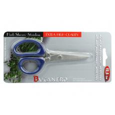 Nerezové nůžky na bylinky BUCANERO (12.5cm) - Modré