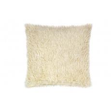 Luxusní povlak na polštářek s dlouhým vlasem 40x40 - Béžový