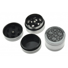 Kovová mini drtička (3cm) - Stříbrná, mix motivů