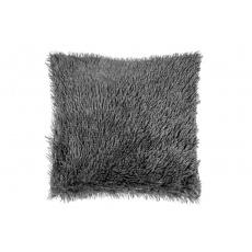 Luxusní povlak na polštářek s dlouhým vlasem 40x40 - Tmavě šedý