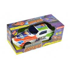 Závodní auto na setrvačník 1:16 - Bílé