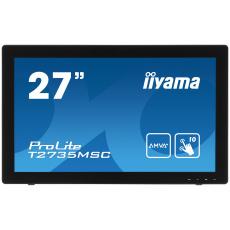 27'' LCD iiyama T2735MSC-B2 - 5ms,255cd/m2,DVI,HDMI,VGA,USB,multidotek,kapacitní,kamera+mikrofon