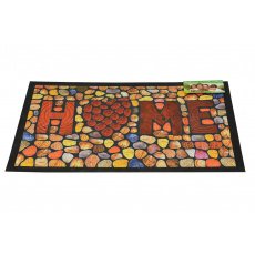 Bytová rohožka PERFECT HOME 40x60cm - Home dřevěná mozaika