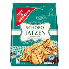 GG Křehké jemné sušenky zdobené čokoládou 250g