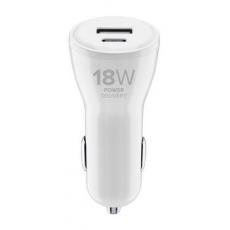 Cellularline CL Dual s USB-C a USB 18W+12W, White