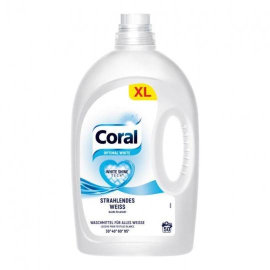 Coral Optimal White prací gel na bílé prádlo, 50PD 2,5l