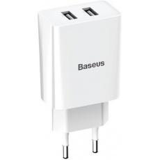 Baseus CCFS-R02 Speed Mini Nabíječka 2xUSB 10.5W White