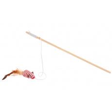 Prut pro kočky myš sisál 39cm