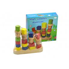 Dřevěná hračka - Čtyři panáci (19cm)