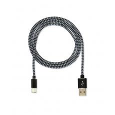 CUBE1 nylon datový kabel USB > USB-C, 2m, Black