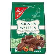 GG Mignon oplatky plněné lískooříškovým krémem polévané čokoládou 400g