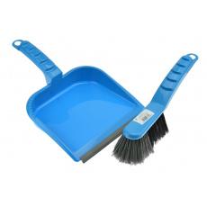 Smetáček a lopatka s gumou - Světle modrý