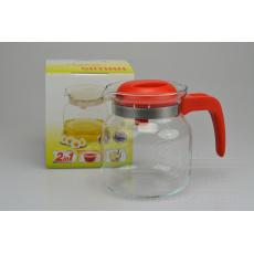 Konvice na čaj SIMAX 1l - Červená (14,5cm)