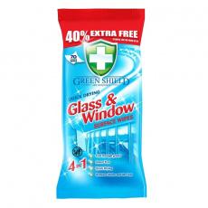 Green Shield čistící ubrousky na skla a okna 70ks