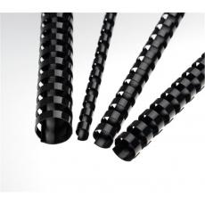 Plastové hřbety 6 mm, černé