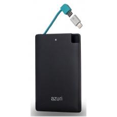 Azuri Powerbank 4000 velikost kreditní karty,Black
