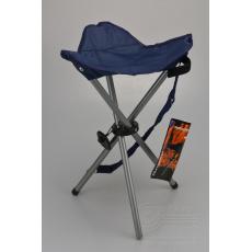 Kempingová stolička trojnožka REDCLIFFS - Modrá (45cm)