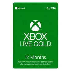 ESD XBOX - Zlaté členství Xbox Live Gold - 12 měsíců (EuroZone)