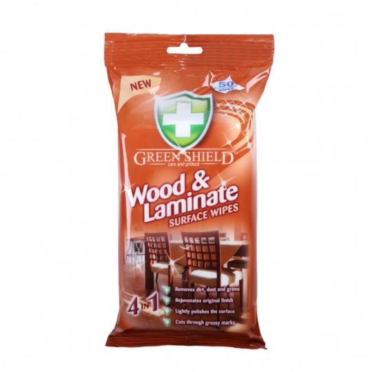 Green Shield 4v1 čistící ubrousky dřevo a laminát 70ks