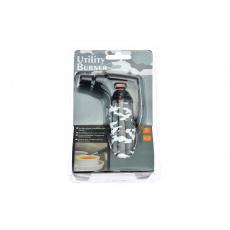 Multifunkční plynový zapalovač s turboplamenem, šedý