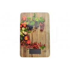 Skleněná kuchyňská digitální váha EH (23x15cm) do 5kg - Ovoce