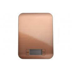 Nerezová kuchyňská digitální váha EH (22x16cm) do 5kg - Měděná barva