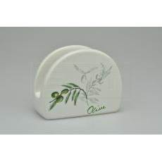 Keramický stojánek na ubrousky BANQUET (10x8x4cm) - Olivy