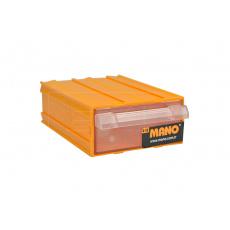 Plastový organizér do dílny MANO K-10 (12x8.5x4cm) - Žlutý