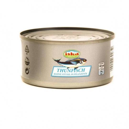 Iska tuňákové kousky ve slunečnicovém oleji 170g