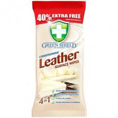 Green Shield čistící ubrousky na kůži 70ks
