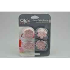 Set 4ks cukrářských razítek na marcipán (4cm) QLUX - Fialový