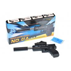 Pistole na gelové vodní kuličky Glock 9x19 s laserem GAZELO (25cm) 18+