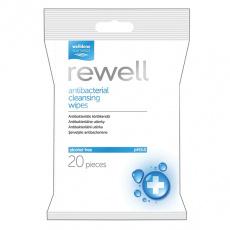 Rewell antibakteriální vlhčené ubrousky 20ks