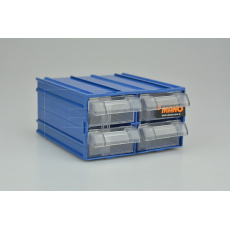 Plastový organizér do dílny MANO MK-32 (12x11x6cm) - Modrý