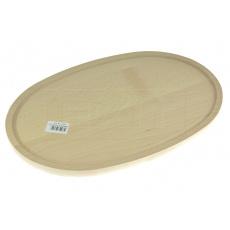 Dřevěné prkénko (38x25cm) - Oválné