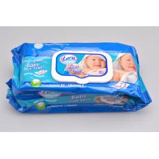 Vlhčené ubrousky LARA pH5.5 72ks (16x18cm) - Modré balení