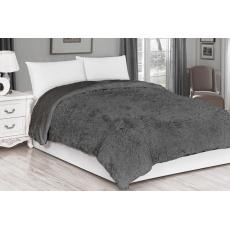 Luxusní deka s dlouhým vlasem 150x200 - Tmavě Šedá