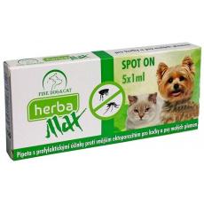 Herba MAX Spot-on Dog+Cat 5x1ml