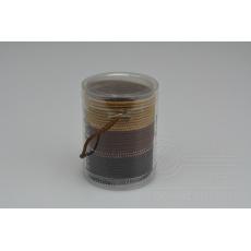 Set 30ks gumiček do vlasů (průměr 5cm) - Odstíny hnědé
