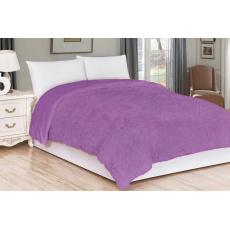 Luxusní deka s dlouhým vlasem 230x200 - Fialová