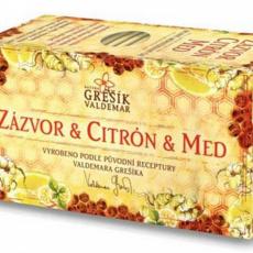 Grešík Zázvor,citron,med čaj 20x2g