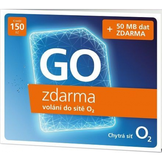 O2 Předplacená karta GO