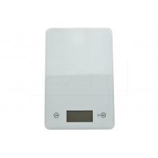 Skleněná kuchyňská digitální váha EH (23x15cm) do 5kg - Bílá