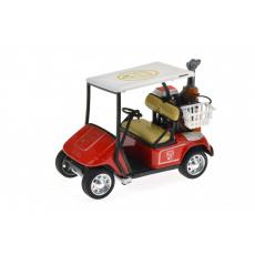 Golfové vozítko na setrvačník (10 x 7 cm) červené