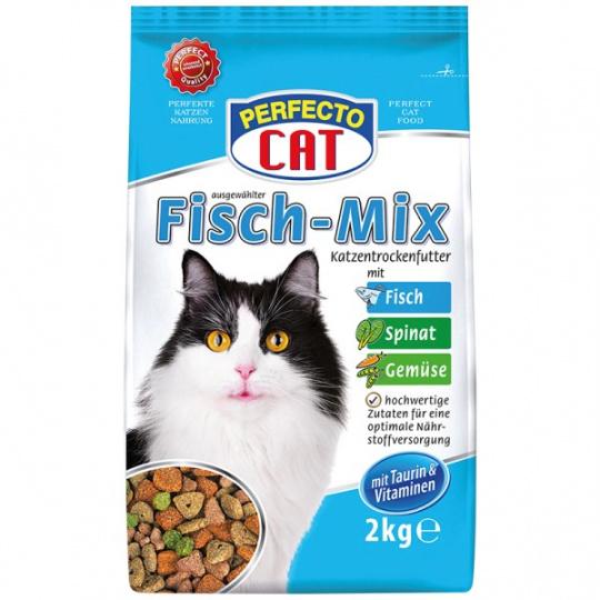 Perfecto Cat Granule rybí mix ryba + zelenina 2kg