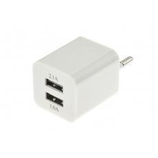 Double USB AC adaptér pro nabíjení v cizině - Typ F, L, 15